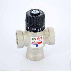 Клапан термосмесительный 3/4 г/г/г боковое смешение 35-60 град. UNI-FITT (Италия)