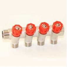 Коллектор 3/4'x1/2' с регулировочными вентилями VRT (4 вых)