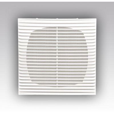 Решетка вентиляционная 138*138 1313Г ж/пр с сеткой, безамки АБС