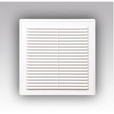 Решетка вентиляционная 150*150 1515Р ж/нак с сеткой, самкой,разъемн, АБС бел.