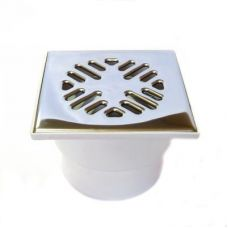 110 трап прямой 15х15 с металл. решеткой