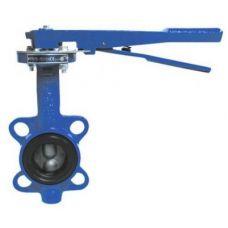 Затвор поворотн дисковыйучн ДУ-100 PN16 (темп -30 +130, диск-чугун, уплотн-резина EPDM)